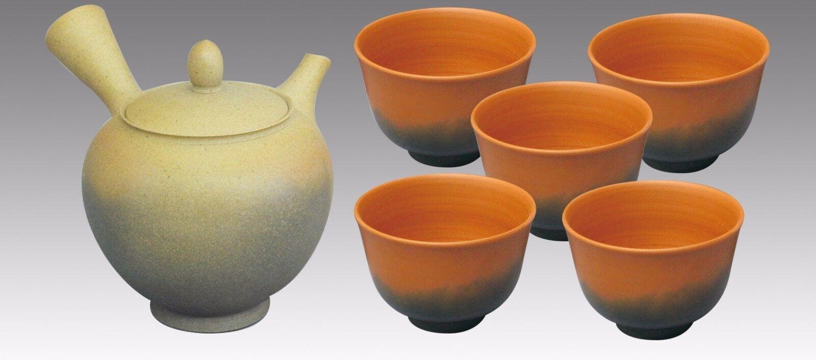 Japonais Kyusu teaset-Koji-Dawning 1pot & 5 chawan Cups