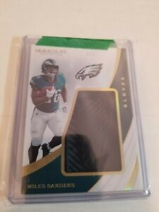 2019 Miles Sanders 4/5 Immaculate Collegiate Glove Patch Relic Penn State Rare