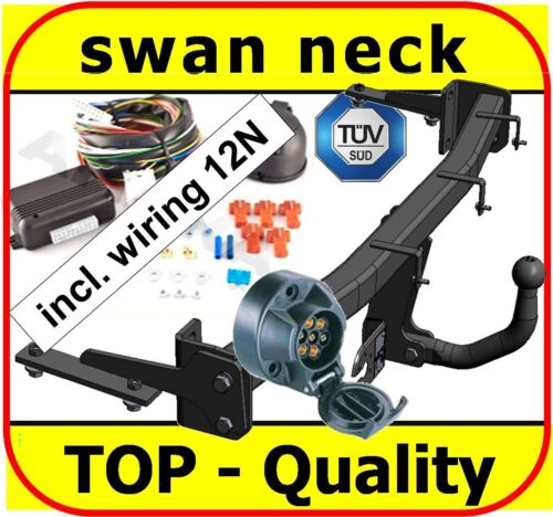 onwards swan neck Tow Bar Towbar /& Electric 7pin 12N VW Caddy Van 2004