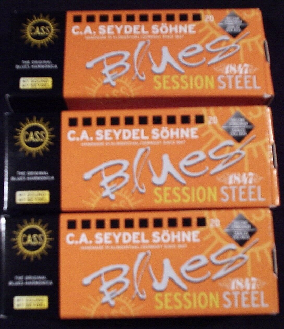 BUY 3 & GET A DISCOUNT   THREE Seydel Session Steel Reed Harmonicas   ANY 3 KEYS