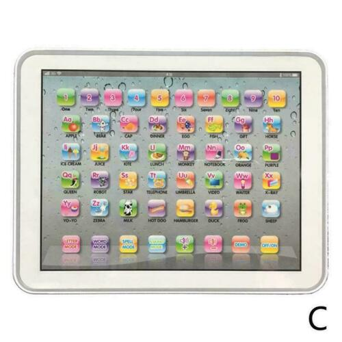 Baby Tablet Educational Toys Kids For 1-6 Years Toddler AU English Learning O6C8