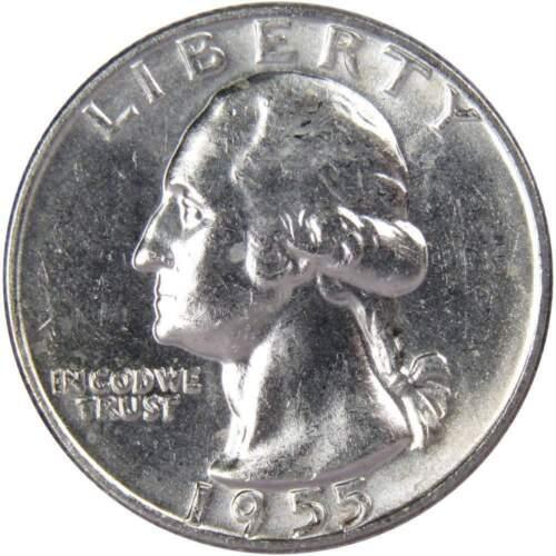 1955 D 25c Washington Silver Quarter US Coin BU Uncirculated Mint State
