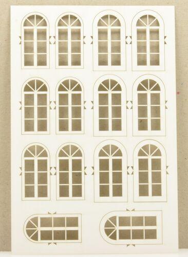Spur H0 te-miniatur 6314 Lasercut Fenstersatz 4 weiß