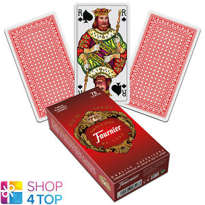 FRENCH-TAROT-DECK-FOURNIER-78-PLAYING-CARDS-RED-JEU-DE-NEW