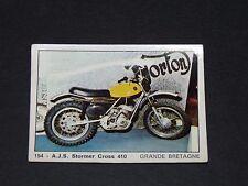 #154 A.J.S. STORMER CROSS 410 UK GB MOTO 2000 PANINI EDITIONS DE LA TOUR 1973