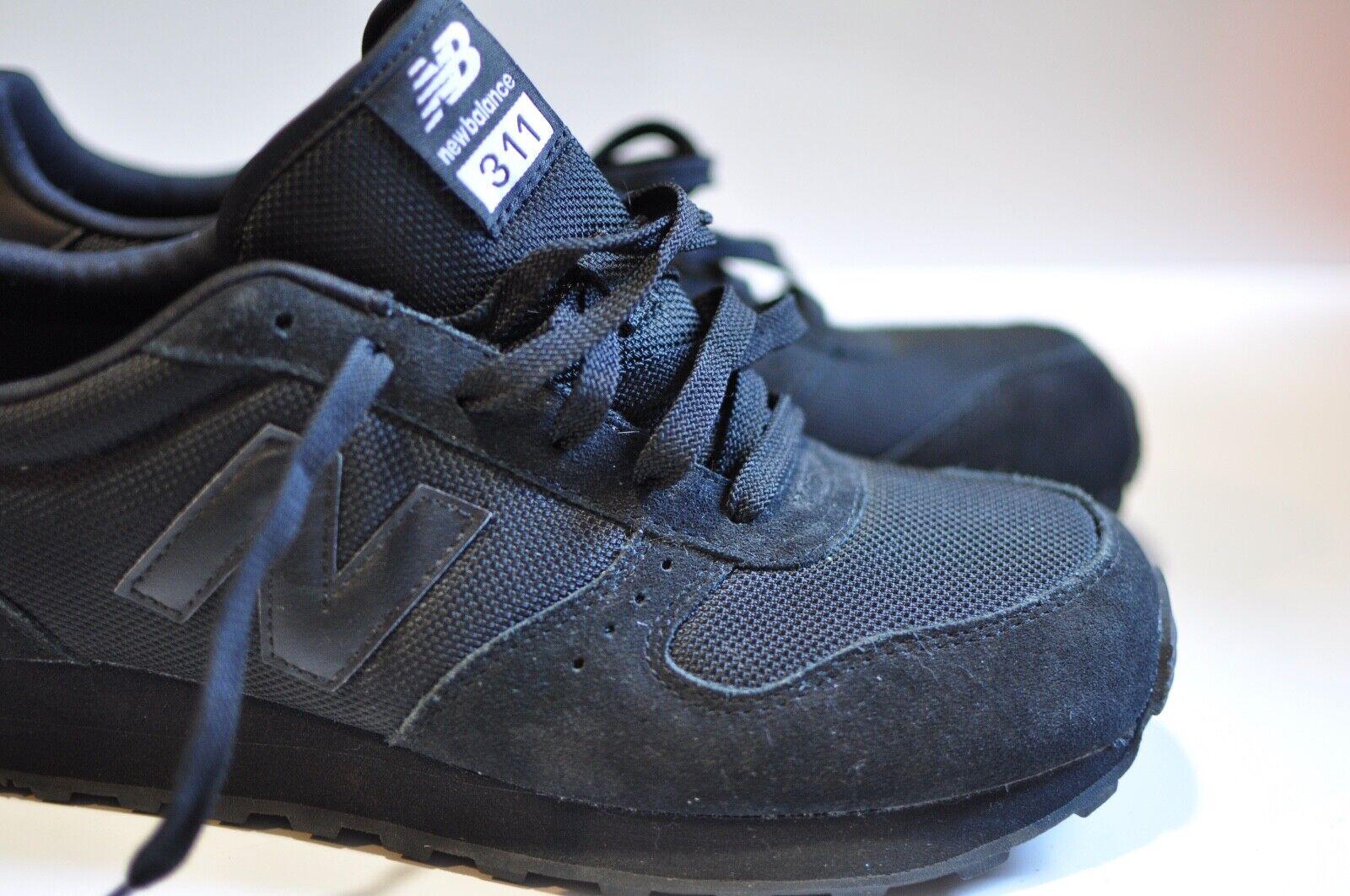 Para Hombre 311 Sólido Negro New Balance Clásico Zapatillas Tamaño 9.5 D