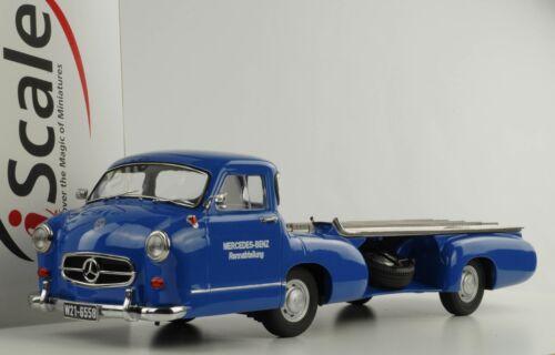 Mercedes-Benz Renntransporter Das Blaue Wunder 1955 1:18 iScale Diecast