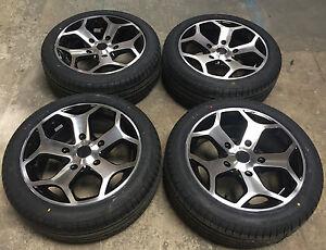 18 st black polished alloy wheels tyres 5x160 ford. Black Bedroom Furniture Sets. Home Design Ideas