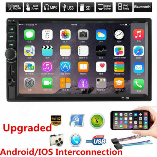 """7"""" HD Double 2 DIN Car Stereo Video MP5 Player Bluetooth FM"""