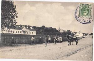 DENMARK-Old-postcard-RODBY-VESTERGADE-MED-SYGEHUSET-TO-HELLERUP-YEAR-1911