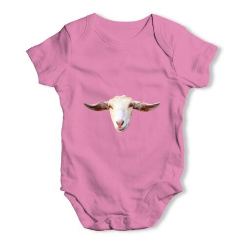 Twisted envy chèvre tête bébé unisexe drôle bébé grandir body