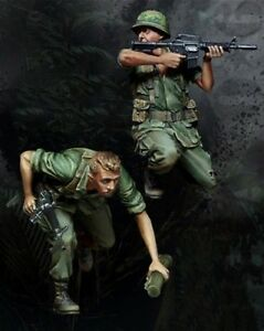 1-35-Scale-Resin-Figure-Model-Kit-USMC-On-The-Attack-Vietnam-War-2-Figures
