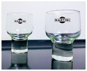 Bicchiere-Vetro-Pubblicitario-Vintage-Set-2-Bicchieri-MARTINI-Anni-70