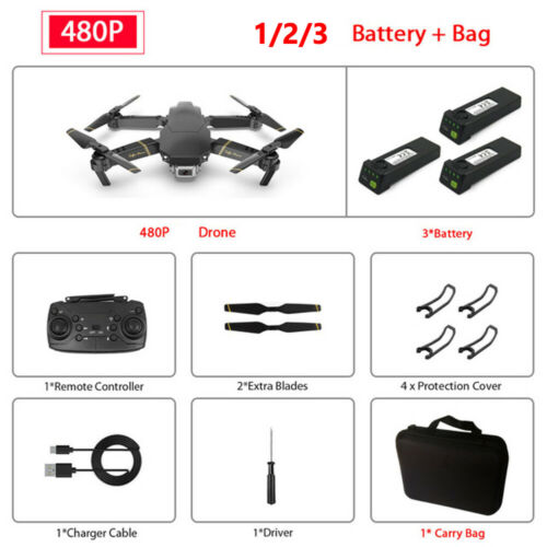Drone X Pro 5G Wifi FPV Drone With 1080P//4K HD Camera Foldable Quadcopter+BAG tR