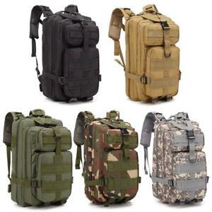 30L-Waterproof-Military-Tactical-Backpack-Rucksack-Bag-Camping-Outdoor-Hiking