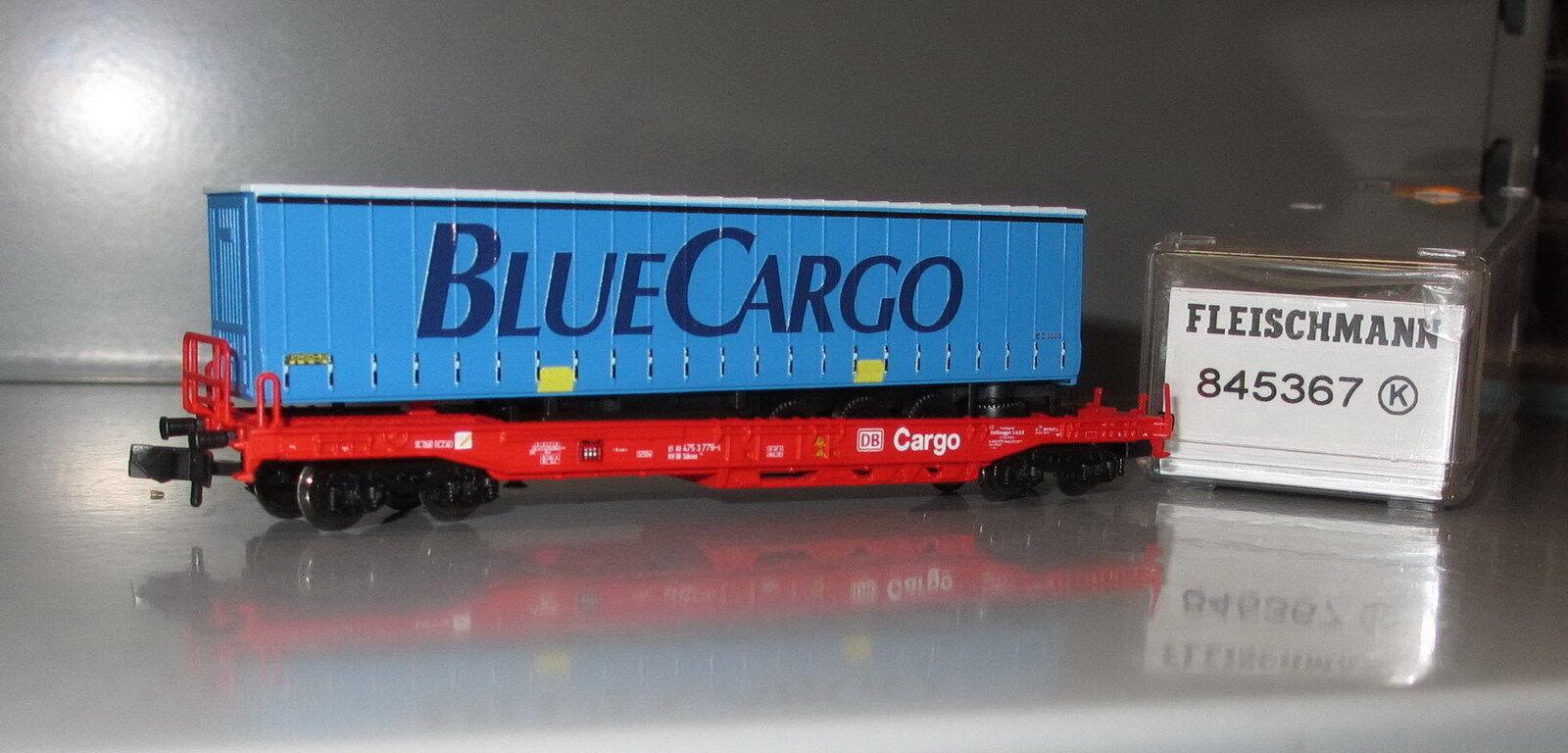 Fleischmann N 845367 845367 845367 Einheitstaschenwagen mit Auflieger  BlauCargo , DB AG _N430  | Ausgewählte Materialien  d9a486