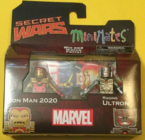 Marvel Minimates Series 64 Secret Wars Iron Man 2020 /& Raging Ultron movie
