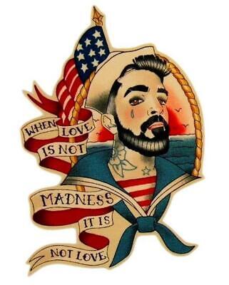 Nautical Mens Iron on Patch Flash Tattoo Shirt Applique Cotton Sailor Jerry Navy