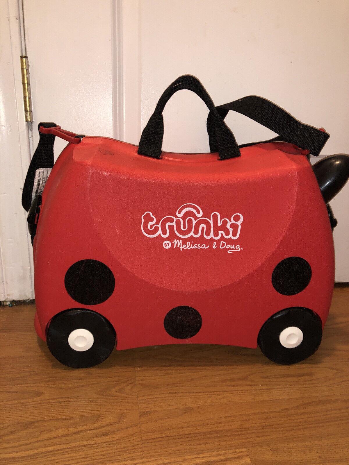 Melissa & Doug Trunki Red Lady Bug Kids Suitcase Luggage Ride On Bag
