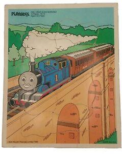 """Vintage Playskool """"Peep Peep Good Morning!"""" Wooden 10 Piece Puzzle Thomas Train"""
