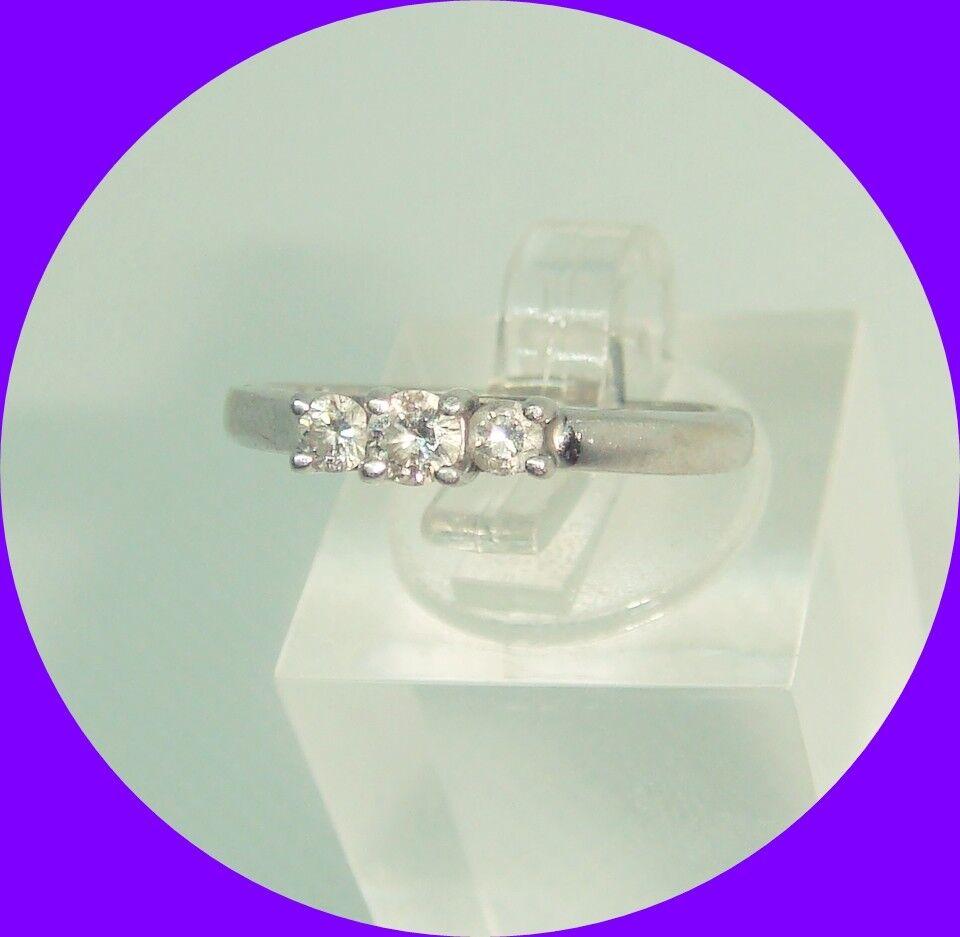Lovely 3-Stone Diamond Ring-- Size 6.25