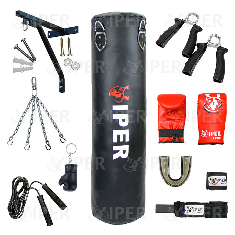 Viper 5ft Filled Heavy Boxing Punch Bag Chain Punch bag Kick bag Kick  MMA
