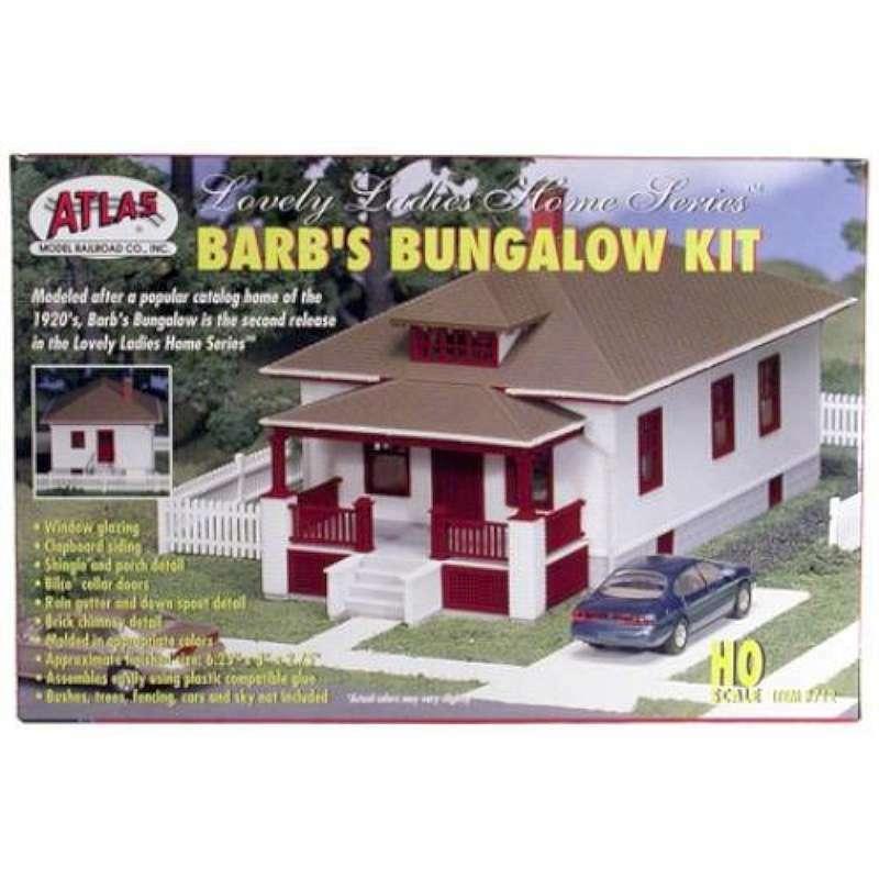 Atlas 712 HO Scale Barb's Bungalow Kit 732573007123