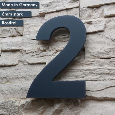 Hausnummer Anthrazit Ral7016 1-9 acrylglas 6mm Stark 17cm Ziffernhöhe Alezzio