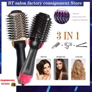Sèche-Cheveux Brosse Rotative Soufflante Peigne Défrisant Lisse Frisottis