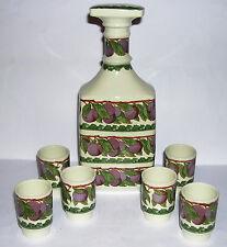Villeroy & Boch-Mettlach-Allegro Diseño-Ciruela Obstler Jarra y 6 Vasos