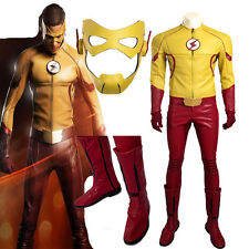 HOT Kids Flash Cosplay The Flash Season3 Barry Allen Costume Customize Full Set