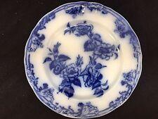"""PETRUS REGOUT & CO FLOW BLUE AUROREA  8 3/8""""  PLATE FLOWERS"""