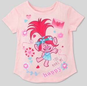 5b9fea63e Image is loading DREAMWORKS-Toddler-Girls-039-Trolls-Short-Sleeve-Tee-