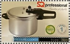 HIGH QUALITY 26cm ALUMINIUM 9 LITRE PRESSURE COOKER WITH FREE SPARES SEAL GASKET