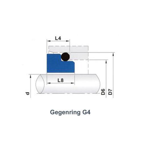 contra anillo g4 Siltec gleitringdichtung m3 sic//sic//Viton 10-80 mm incl 551