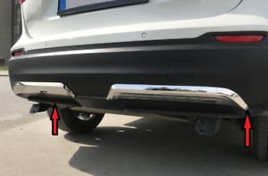 modanature Cornici paraurti per Nissan Qashqai 17-2019 acciaio satinato