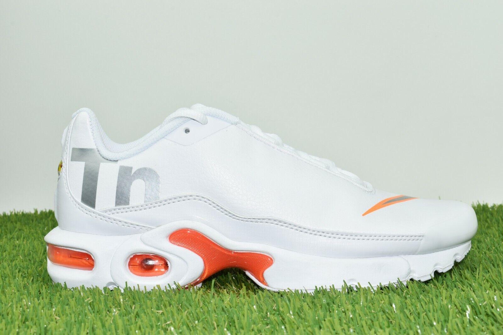 Nike Air Max Plus TN SE Multi Sizes Big Logo White Silver orange AR0005 100
