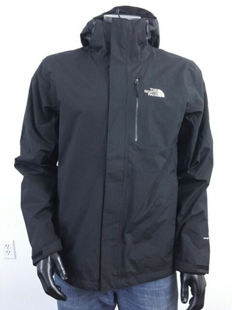 Mens The North Face Cinder 2 Tri 3 in 1 Hooded Waterproof Jacket Black White