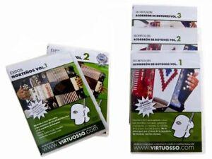 Virtuosso Curso De Accordion Dvd Pack 5 DVD & 5 CD