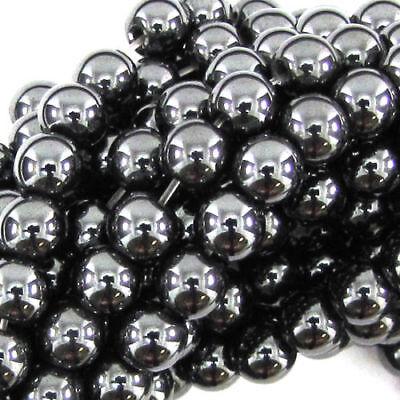 75 pcs Perles Hématite Non Magnétique 6mm coloris hématite