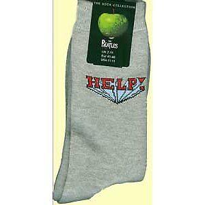 Die Beatles Help logo graue Socken Damen Mädchen Apples offizielle