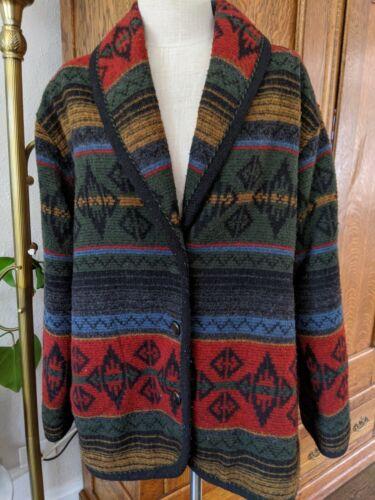 Woolrich Wool Blanket Coat Southwestern Nordic Jac