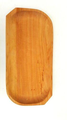 """Wooden Serving Tray 17,5 /""""de large médiévale assiette de service Aulne Bois"""
