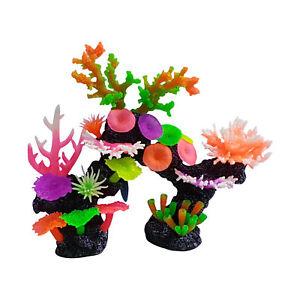 Artificial Coral Reef Aquarium Ornament Vibrant Colors In An Arch