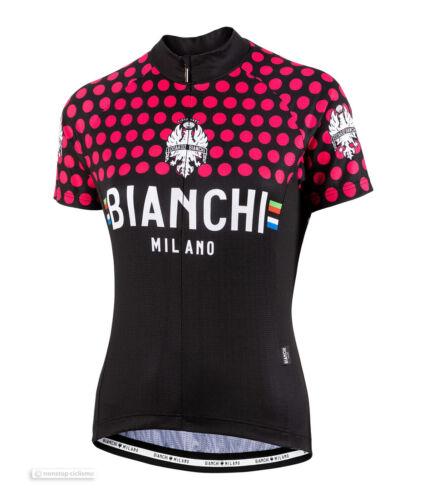 Nouveau Bianchi Milano 2019 CROSIA pour femme à manches courtes maillot de cyclisme: Noir/Rose