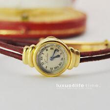 Antike Cartier 18Kt GG-Uhr Damenuhr 1934 Jaeger LeCoultre Backwind - Rarität