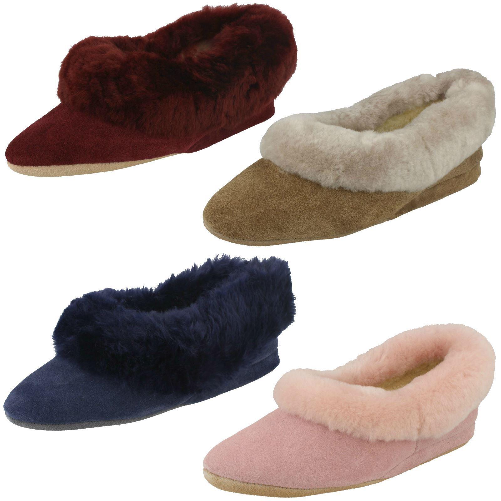 Señoras Morlands Resbalón en Zapatillas de cuero con adorno de de de piel Seaforth  descuento de bajo precio