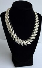 Vintage Napier Silver Tone Necklace 17 inch Collar Necklace - Fabulous Fashion