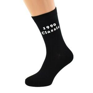 Est 1990 Black Mens Socks for 30th Birthday Present for 2020