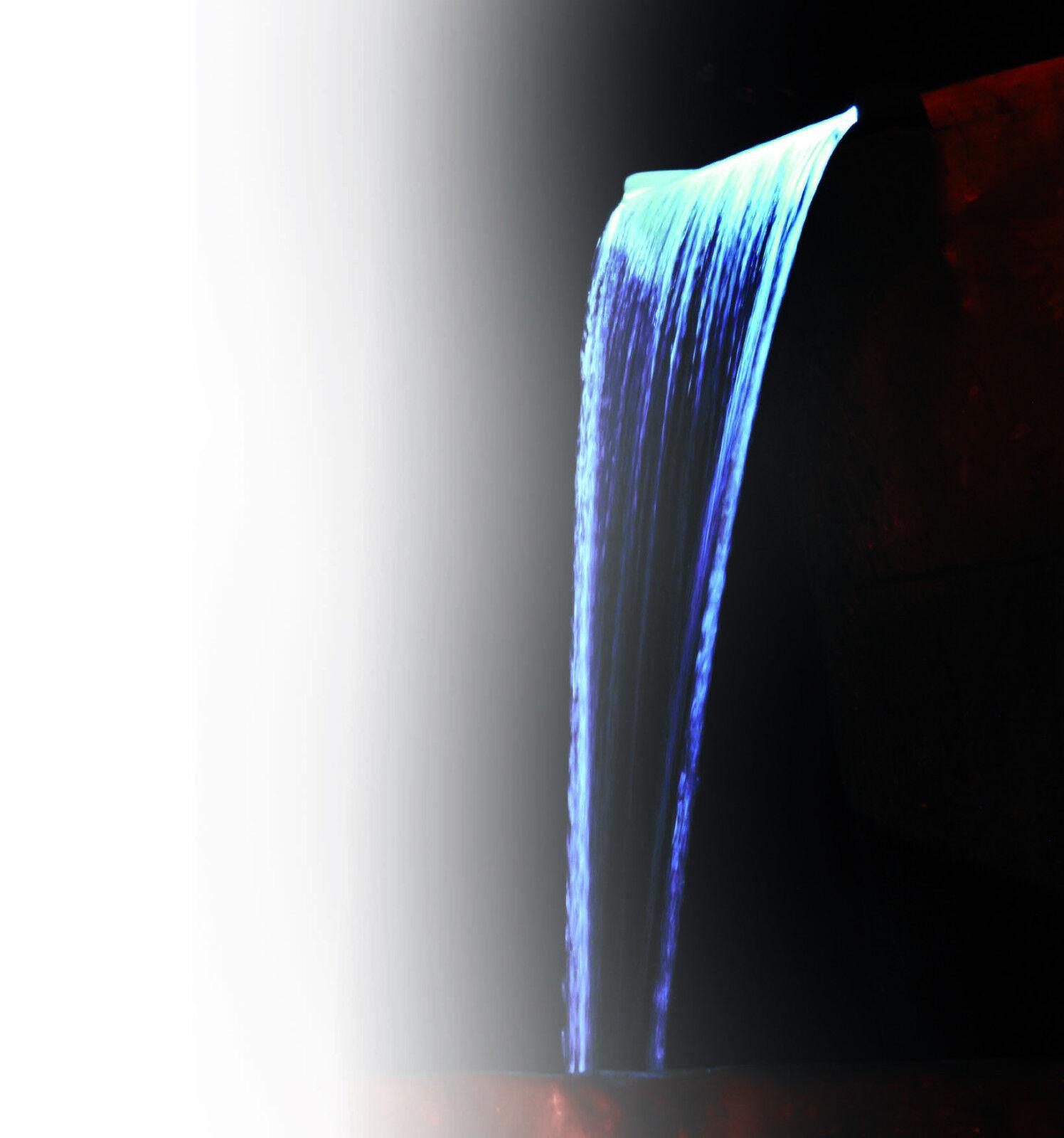 Ubbink Edelstahlwasserfall Nevada 30 mit LED NEUWARE